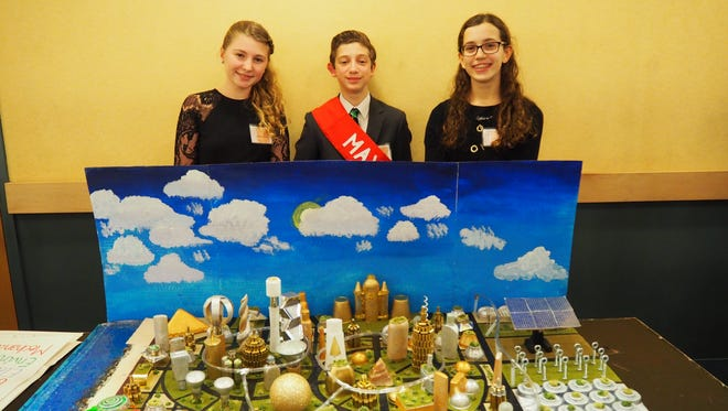 Team Nazif, composed of Sam Fechtner, Kaelin Churchill, Cristina Churchill and Mario Martino from Valley View School in Watchung, won the first prize at the regional Future City tournament in on the Rutgers Piscataway campus on Saturday.