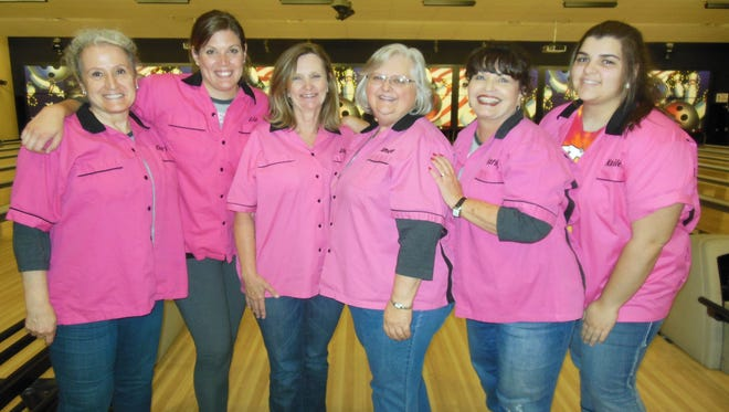 The Bowlerinas captured the team championship of the Wednesday Nights Women's Bowling League at the Starmax Bowling Center in Deming. The Bowlerinas are, from left, Cheryl Smith, Liz Winston, Jill Kennon, Tamara Hurt, Kathy Penn and Kailee Wertz.