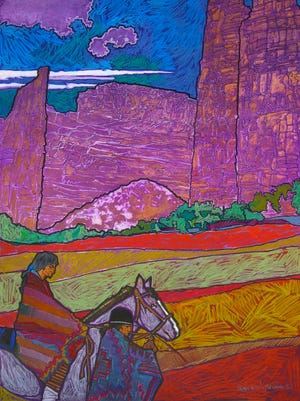 Artwork from Amado Pena Jr. of Santa Fe, along with the art of over 100 artists from across North America, will be on display at the seventh annual Las Cruces Arts Fair.