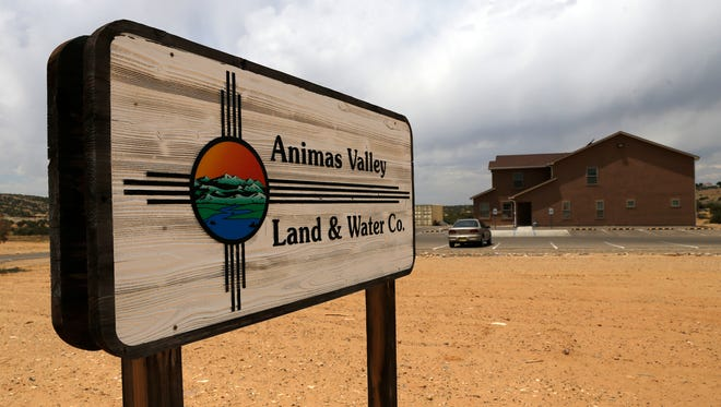 The Animas Valley Land and Water Company building is pictured on Monday in Crouch Mesa. The company that provides water to some of its residents has not been able to fix a problem that has required they boil drinking water.