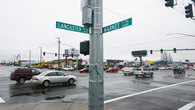 The corner of Lancaster Drive and Market Street NE, located in Salem's Ward 6, on Sunday, Feb. 5, 2017. There will be a special election on March 14 to select a new city councilor for the ward, following former councilor Daniel Benjamin's resignation in November 2016.