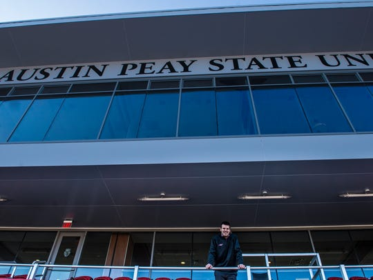 Will Healy poses for a portrait inside Fortera Stadium