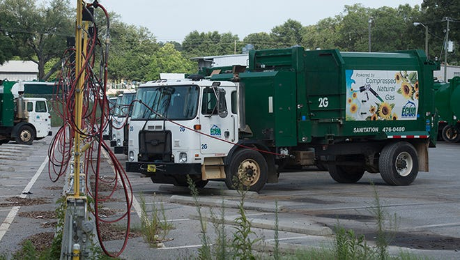 The Emerald Coast Utilities Authority has replaced nearly all of its diesel-fueled garbage trucks with compressed natural gas trucks. ECUA has saved an estimated $1.3million since the  introduction of the CNG trucks to the fleet.