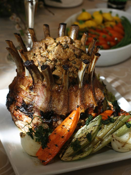 Indianapolis created this Easter brunch featuring crown roast of pork ...