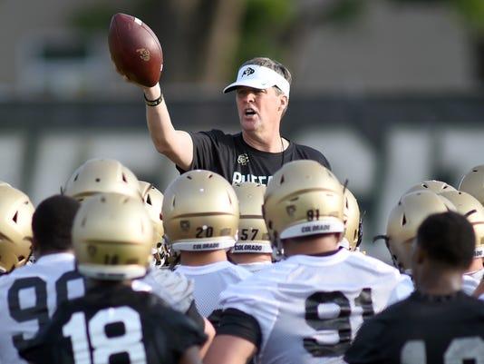 University of Colorado Football Fall Practice