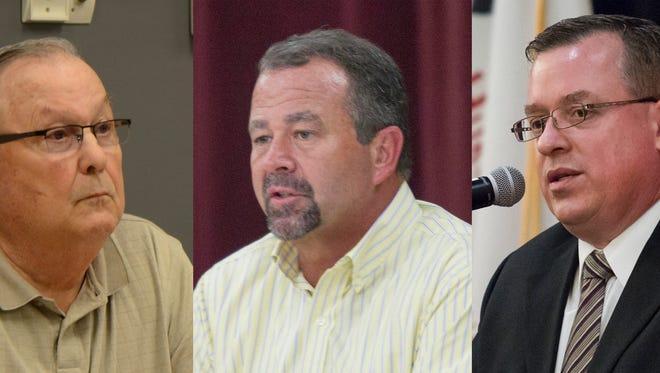 From left: Bedford Supervisor Tom Sprau; Pennfield Supervisor Rob Behnke; and Emmett Supervisor Tim Hill