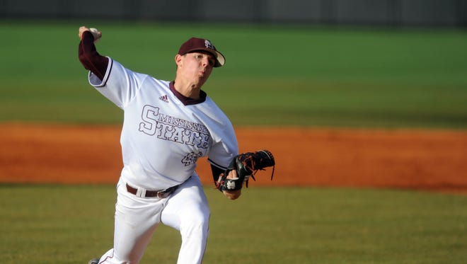 Mississippi State pitcher Jacob Billingsley throws the ball during the Hattiesburg Regional game against Southern Miss on Monday at Pete Taylor Park.