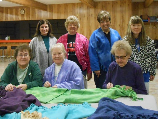 The Van Dyne Lioness Club members have made fleece