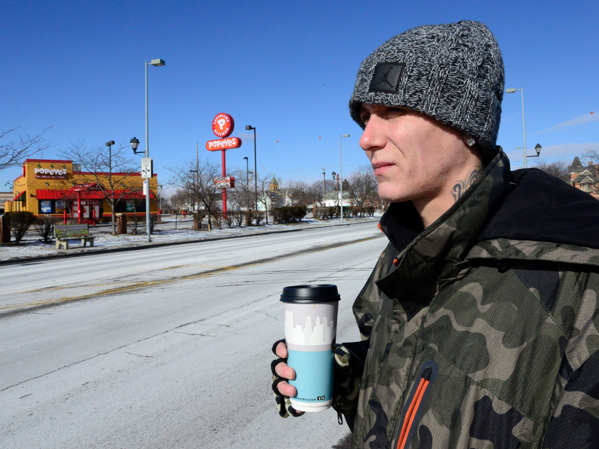 Kyle Wyss has been homeless because of heroin addiction.