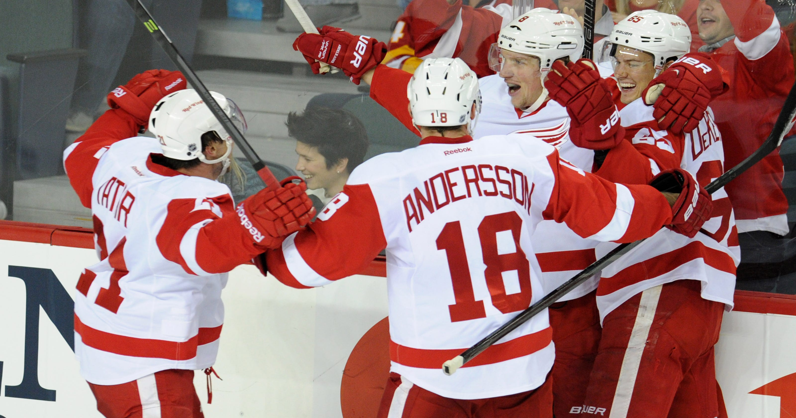 1a4abc740f9 Roundup  Justin Abdelkader lifts Red Wings over Flames