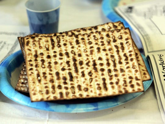 Matzoh is a traditional Passover food.