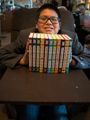 """Tyler collects """"Diary of a Wimpy Kid"""" books."""
