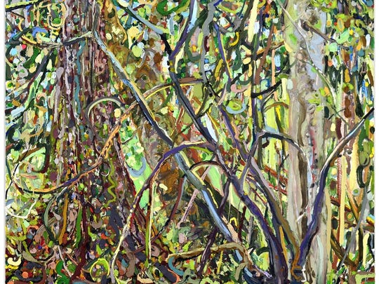 "Tallahassee painter and internationally known artist Lilian Garcia-Roig's ""Extreme Maple Woods"" is on display during a grand opening reception from 6 to 9 p.m. Saturday Nov. 7."