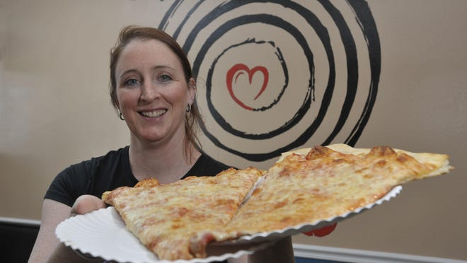 """Sarah Noble of Sky's Pizza Pie brings her traditional New York Style to Pensacola. Sky's specializes in pizza by the slice as well as a super large 24"""" pie."""