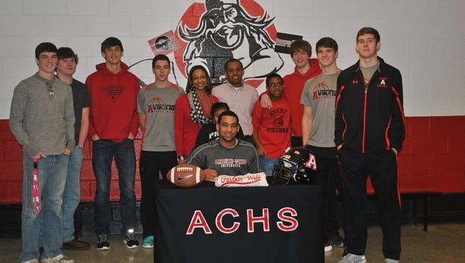 Avery County senior Tre Jackson has signed to play college football for Gardner-Webb.