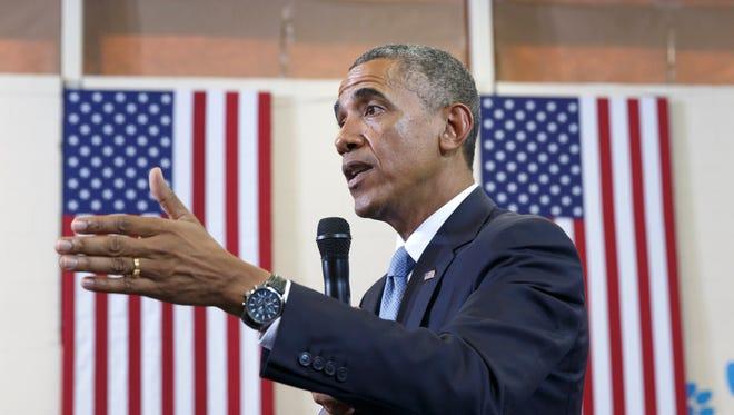 Former president Barack Obama in 2014.