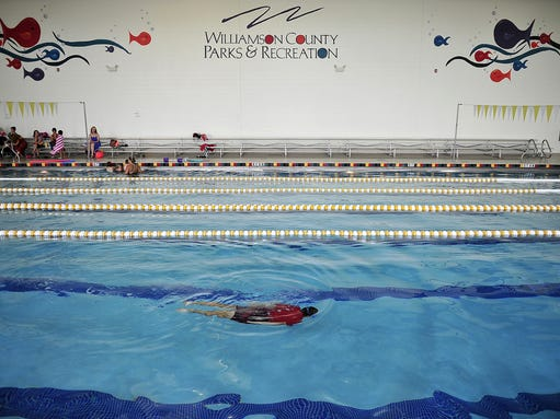 Go for a splash even in the winter - Spring hill recreation center swimming pool ...