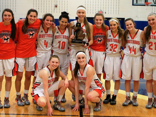 The Northville girls basketball team won the Class A district title Friday at Salem with a 44-38 win over Canton.