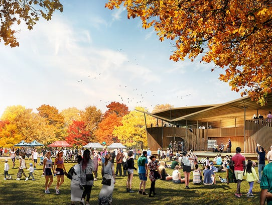 A gathering hall will be part of the $20 million new