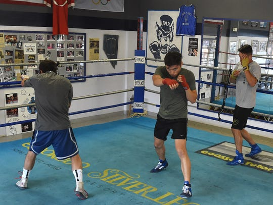 The Nevada boxing team gets in shape at their Gym as