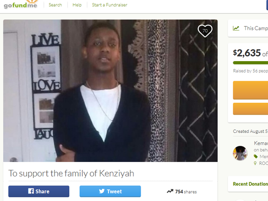 GoFundMe page for Kenziyah Anderson