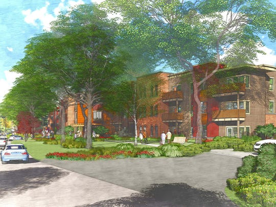 A view of the proposed Cobbs Hill Village redevelopment