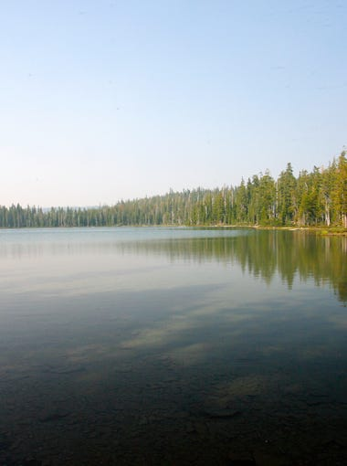 Puck Lake in the Sky Lakes Wilderness.