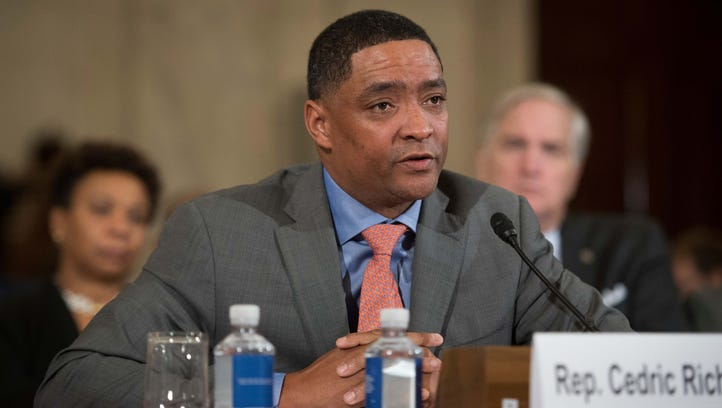 Rep. Cedric Richmond, D-Louisiana and the Chair of the Congressional Black Caucus speaks before the Senate Judiciary Committee earlier this month.