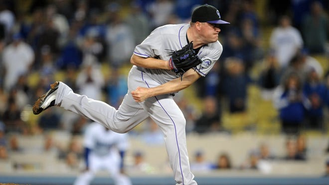 Rockies relief pitcher Jake McGee, a Reed High grad, will compete for Team USA on the World Baseball Classic.