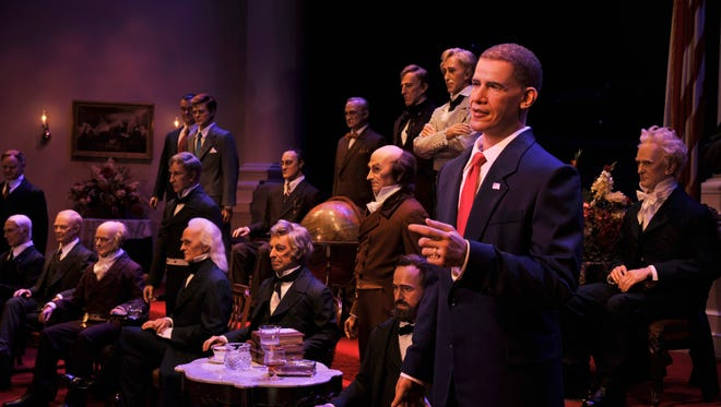 At the Hall of Presidents in Walt Disney World's Magic Kingdom in Orlando, each of the U.S. presidents -- past and present -- comes to life in what was one of the world's first audio-animatronics displays.