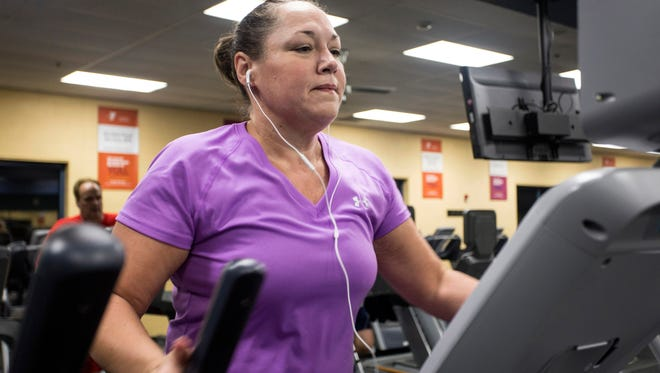 "Tabitha Jordan puts in a 6 a.m. workout at the YMCA on most days. Jordan has reformed her body out of its once ""pre-diabetic"" status."