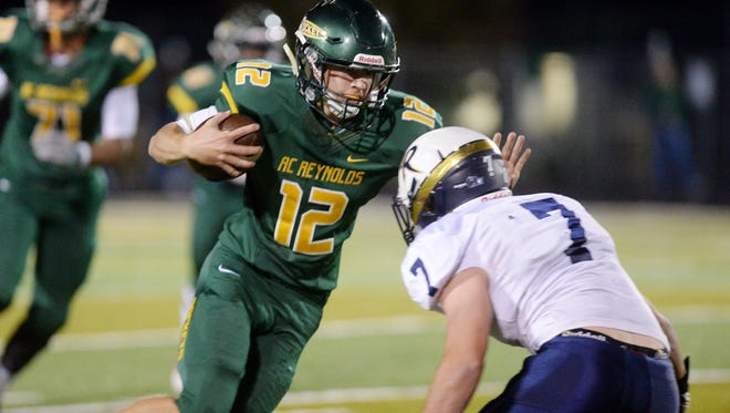 Nathan St. Onge and Reynolds beat Roberson, 38-6, on Thursday night.