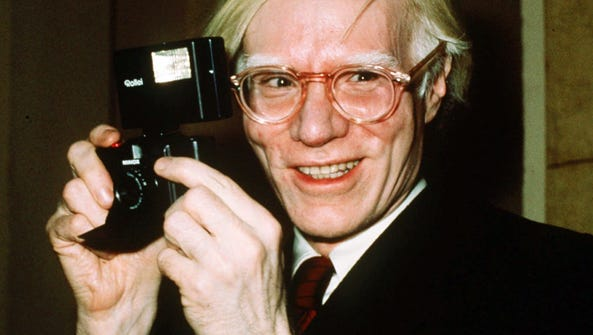 FILE - In this 1976 file photo, pop artist Andy Warhol