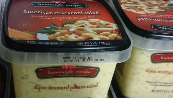 Hy-Vee is recalling macaroni salad that is mislabeled as potato salad on the tub.