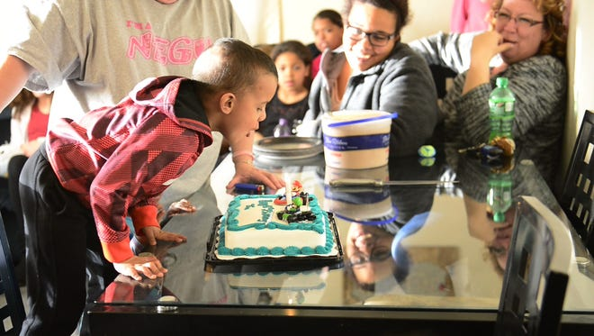 "Diontae ""Tae"" Smith celebrated his fifth birthday on Tuesday. He blows out a candle and celebrates with friends and family. Tae has stage four glioblastoma, a form of aggressive brain cancer with a low survival rate, generally considered incurable."
