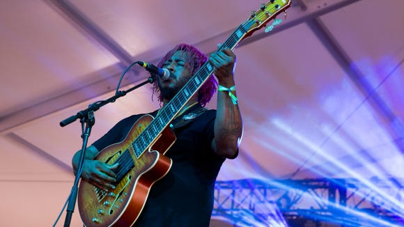 Jazz-funk fusion bassist Thundercat performs during Austin City Limits Music Festival on Saturday in Austin.