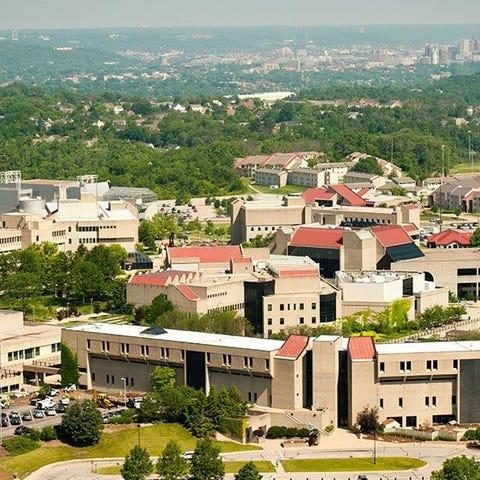 An aerial shot of Northern Kentucky University....