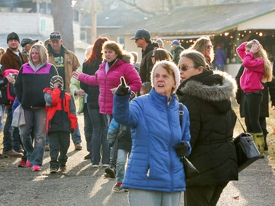 The crowd grew slowly Saturday afternoon in Nichols Park  for Winterfest 2016 in Spencer.