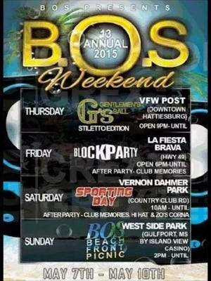 A BOS Weekend flyer