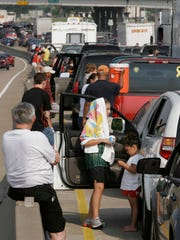 Hurricane Rita evacuees stuck on the highway Sept.