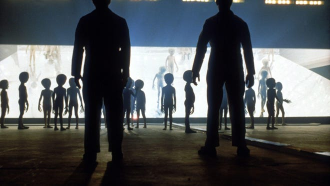 """Aliens reach out and touch someone in Steven Spielberg's 1977 science-fiction classic """"Close Encounters of the Third Kind."""""""