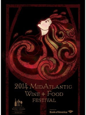 Delaware College of Art and Design graphic design student Will Ramirez's original design has been chosen as the poster for the MidAtlantic Wine + Food Festival to be held May 14-18.