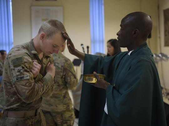 Chaplain (Capt.) John Appiah, a 455th Air Expeditionary