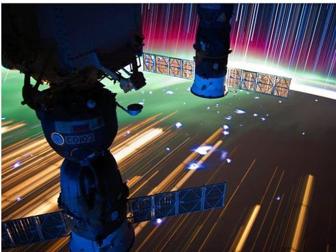 Photos of space taken from the International Space Station.