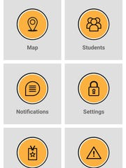 Southeast Polk has started using an App to allow parents to track the location of the school bus. This app window allows parents to choose the area of the app to operate.