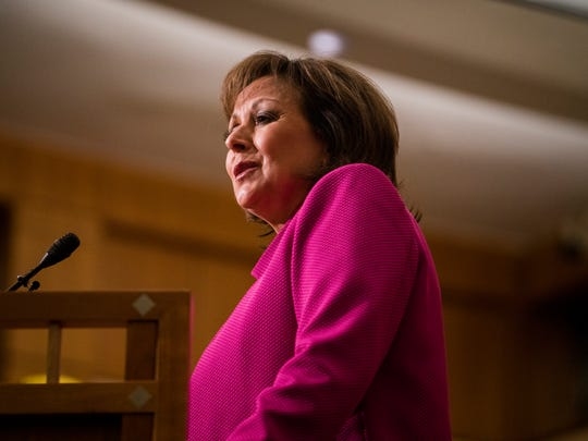 New Mexico Gov. Susana Martinez delivers her State of the State address on Tuesday in Santa Fe.