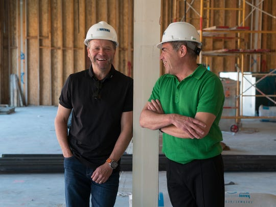 Andrew Copley, left, and Tony Marchese are photographed in the future location of AC3's dining room, Tuesday, April 4, 2017.