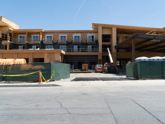 Construction is underway on a new hotel in Palm Desert