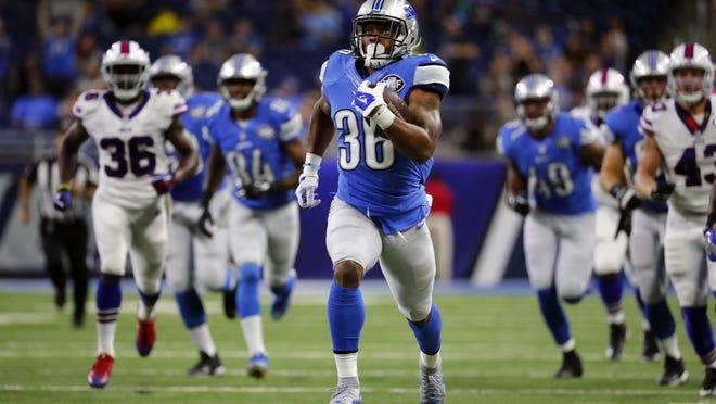 Lions running back Dwayne Washington