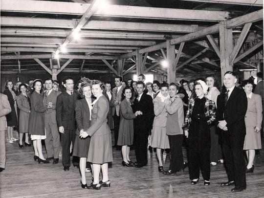 Members of Loyal Order of Moose, Lancaster Lodge 955, enjoyed dancing in the pavilion at Moose Park. The Lodge owned the park from 1943 to 1955.